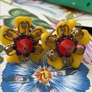 Jewelry - Bundle Add 🌼 Yellow Floral Stud earrings beaded